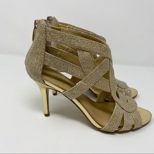Marc Fisher Nala Heels Gold Evening Occasion